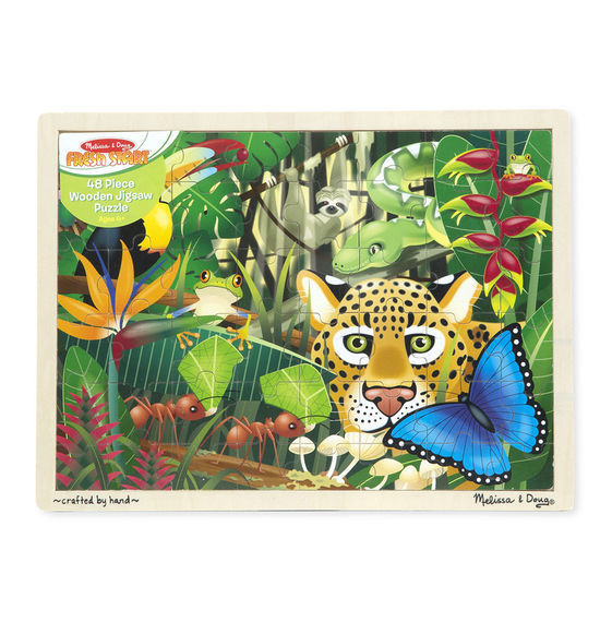 Melissa & Doug: Rainforest Jigsaw Puzzle - 48 Pcs image