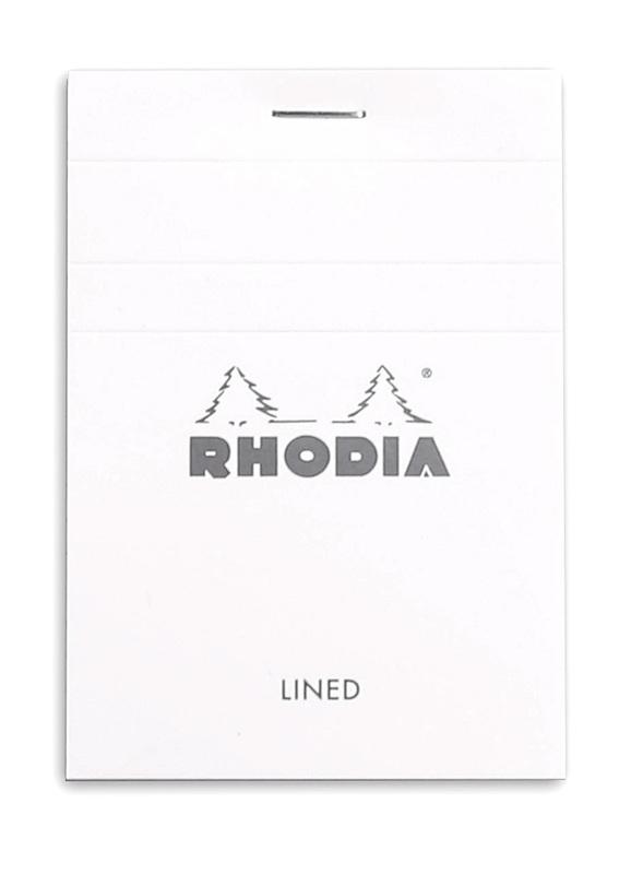 Bloc Rhodia White A7 - Lined