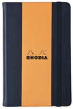 Rhodia Webnotebook A5 Leatherette with Elastic Closure (Black)