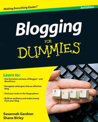 Blogging For Dummies by Susannah Gardner image
