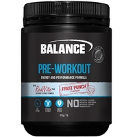 Balance Pre-Workout Powder With RedNite Beetroot (Fruit Punch)
