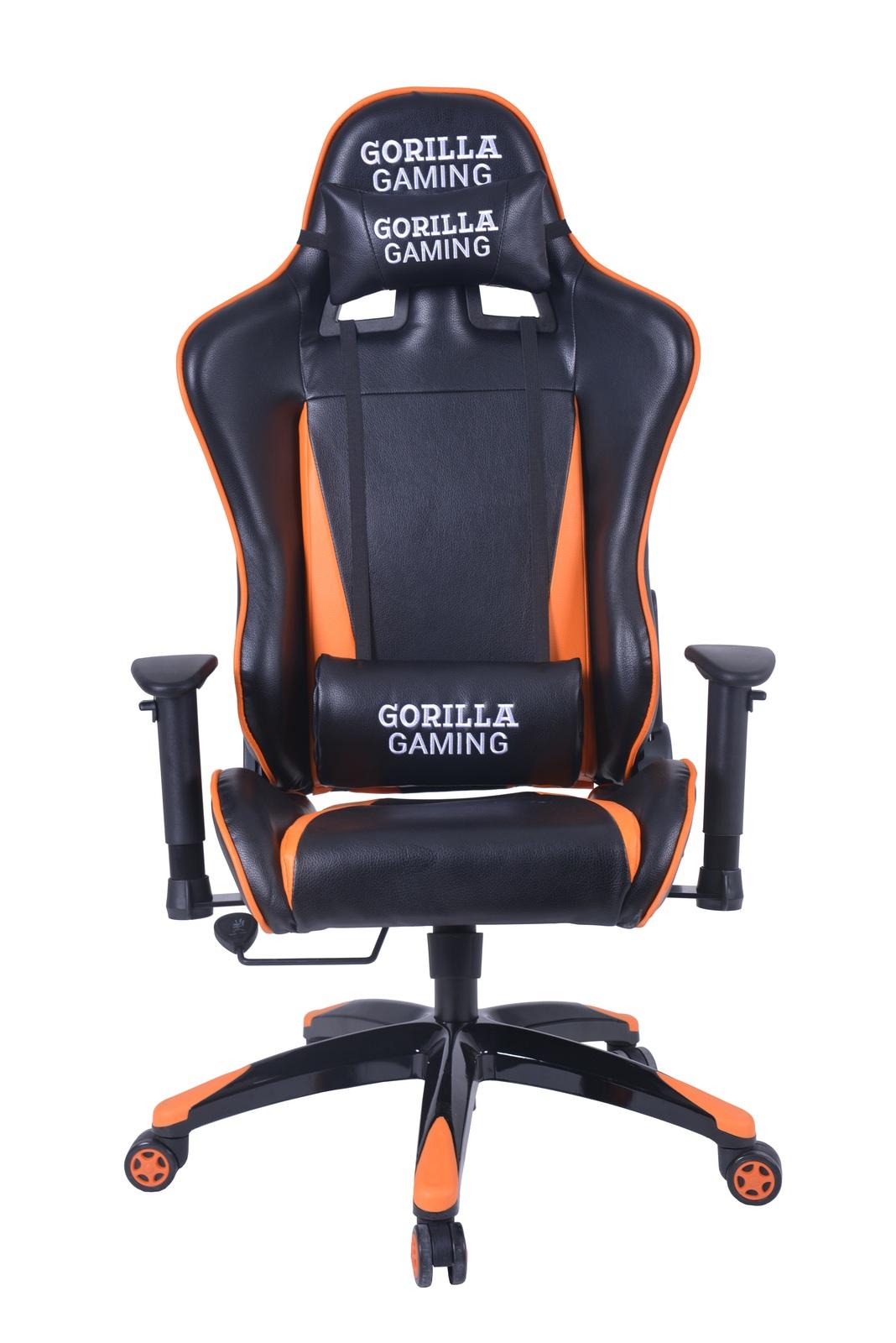 Gorilla Gaming Commander Chair - Orange & Black for  image