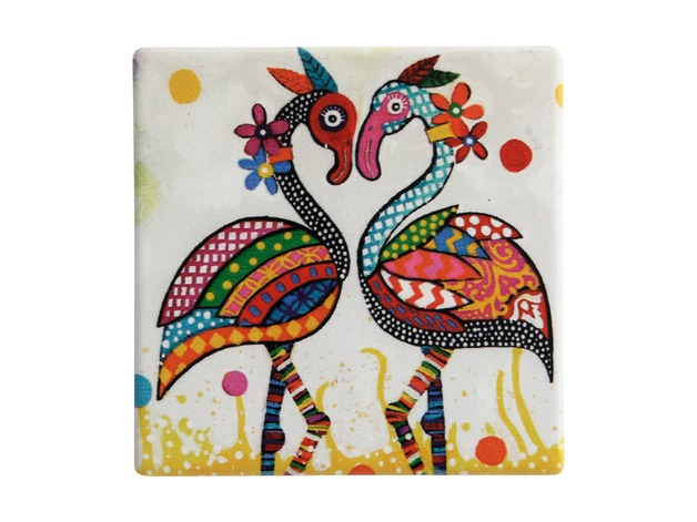 Maxwell & Williams: Smile Style Ceramic Tile Coaster - Flamboyant