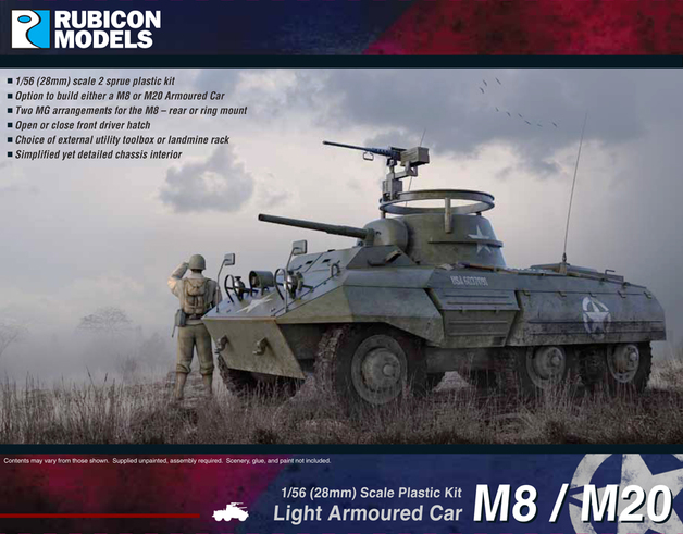 Rubicon 1/56 M8 / M20 Armoured Car