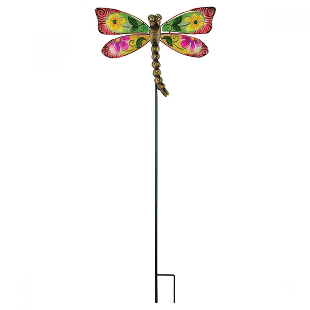 Regal: Floral Dragonfly Stake - Red
