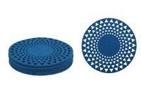 Blue Round Felt Coasters (Set of 6)