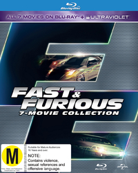 Fast And Furious 1-7 on Blu-ray