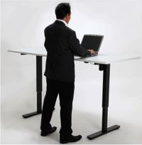 Tidal Electric Height Adjustable Desk - Black Frame