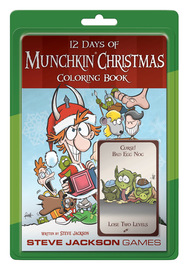 12 Days of Munchkin - Christmas Colouring Book