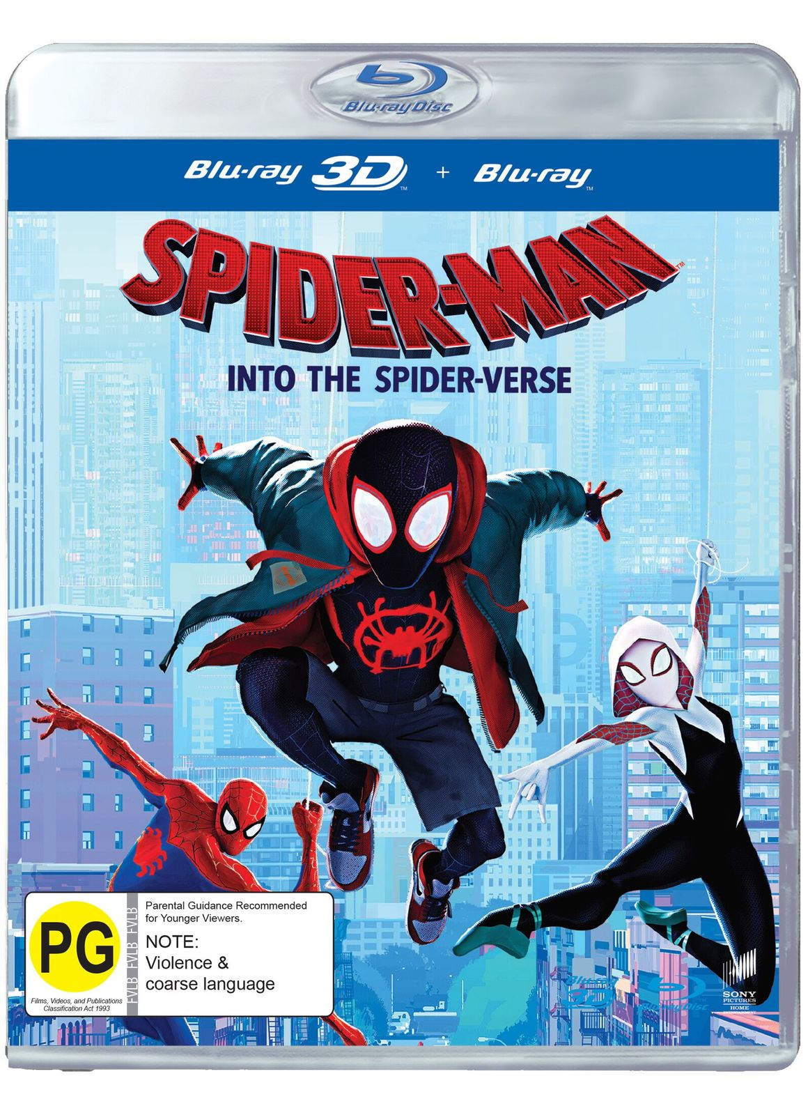 Spider-Man: Into the Spider-Verse on Blu-ray, 3D Blu-ray image