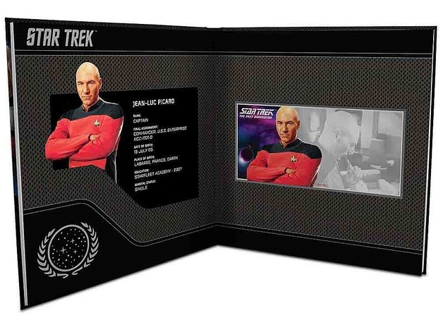 NZ Mint: Star Trek - Silver Coin Note & Album - Jean-Luc Picard 2019 (5g Silver)