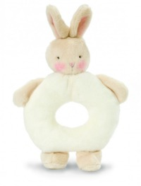 Bunnies By The Bay: White Bunny - Rattle Ring
