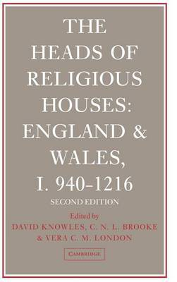 The The Heads of Religious Houses: No. 1 by David Knowles image