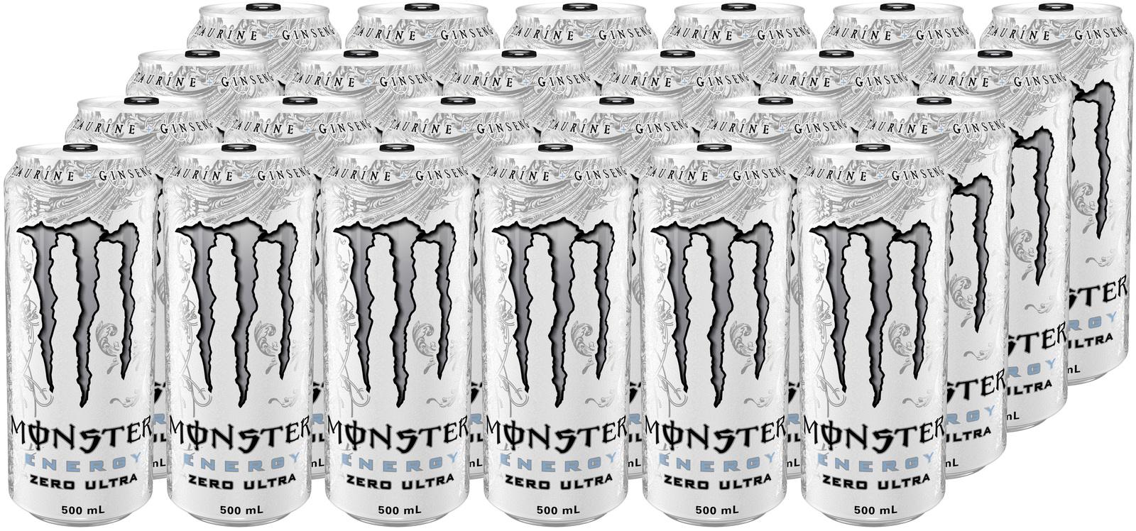 Monster Energy Zero Ultra Energy Drink 500ml Can (24 Pack) image