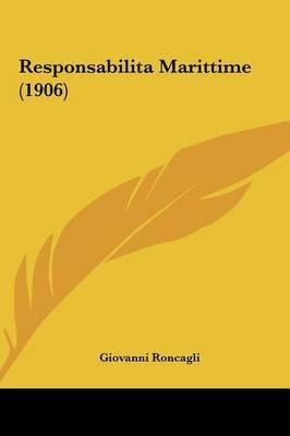 Responsabilita Marittime (1906) by Giovanni Roncagli image