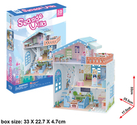 3D Dollhouse - Seaside Villa