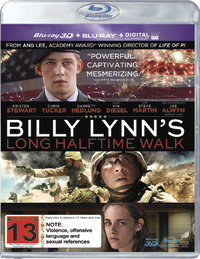 Billy Lynn's Long Halftime Walk on Blu-ray, 3D Blu-ray