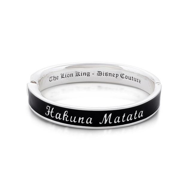 Couture Kingdom: Disney The Lion King Hakuna Matata Bangle - White Gold