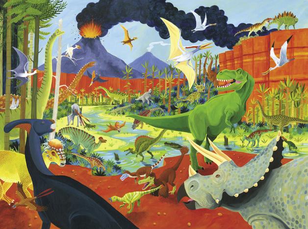 Crocodile Creek: 36 Animal Puzzle - Dinosaur (300pc)