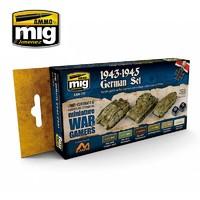 Ammo of Mig Jimenez Wargames Colours: 1943-1945 German Set