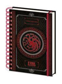 Game of Thrones Wiro A5 Notebook - Targaryen