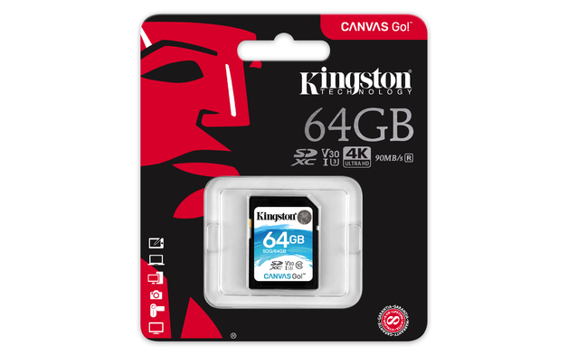 64GB Kingston Canvas Go SDXC Card - Class 10 UHS-I U3