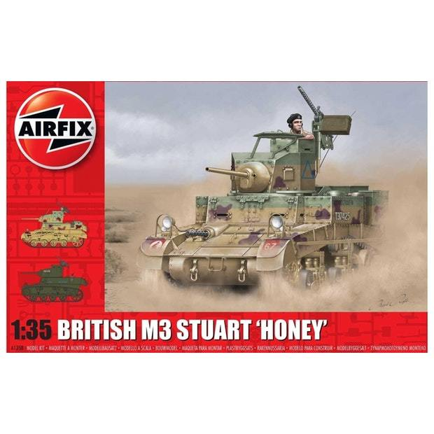 Airfix 1:35 M3 Stuart Honey Scale Model Kit (British Version)