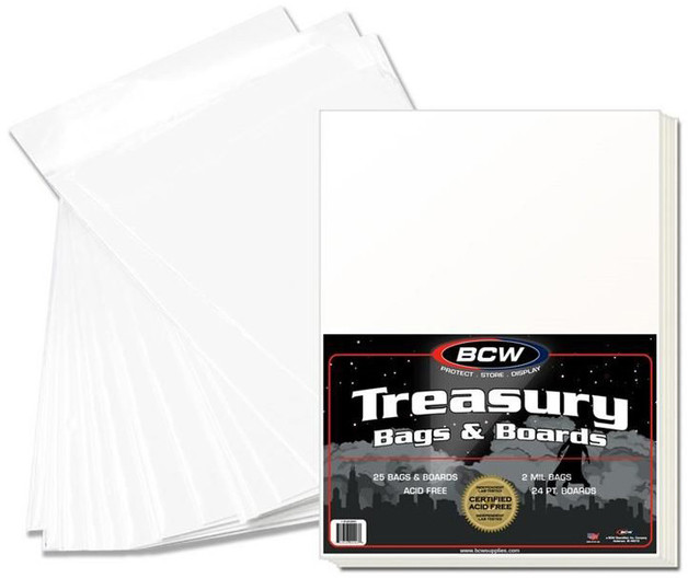 "BCW: Comic Bags & Boards Set - Premade Treasury (13.5"" x 10.5"")"