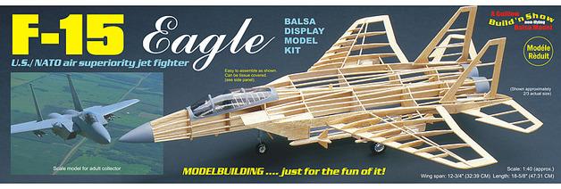 F-15 Eagle 1:40 Balsa Model Kit