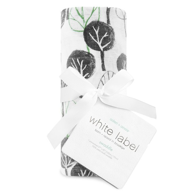 Aden + Anais: White Label Classic Muslin Swaddle - Sage Advice/Wilderness (Single)