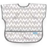 Waterproof Junior Bib - Grey Chevron