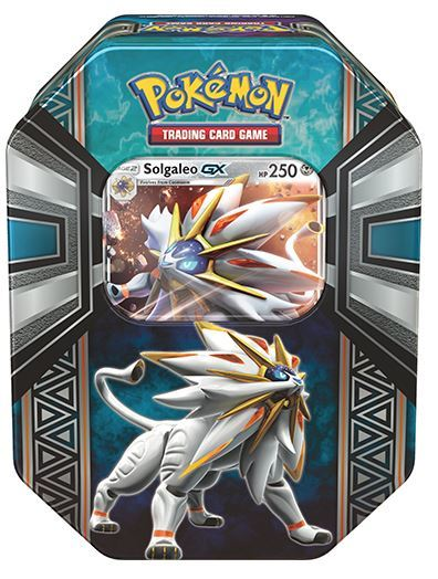 Pokemon GX TCG Legends of Alola Tin: Solgaleo-GX