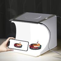 Mini Folding Lightbox 2 LED Photography Softbox - White