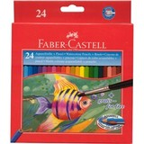 Faber Castell Watercolour: Coloured Pencils - Pack of 24