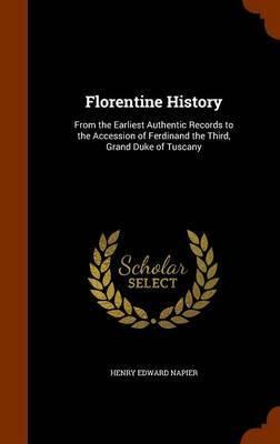 Florentine History by Henry Edward Napier image