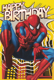 Marvel: Spiderman Birthday Card