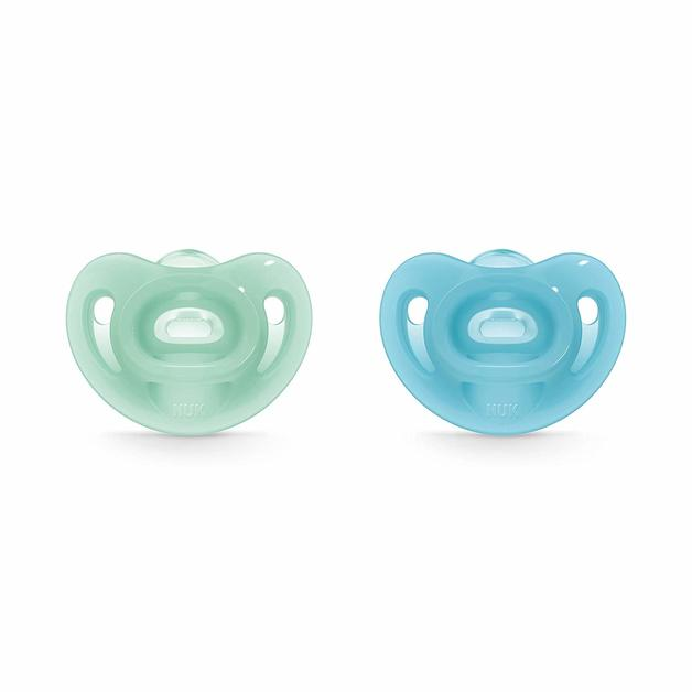 NUK: Sensitive Silicone Soothers Blue - 0-6mths (2pk)