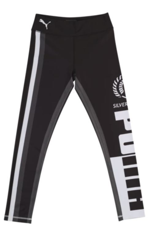 Puma Silver Ferns Youth Training Tights Black/White (164)