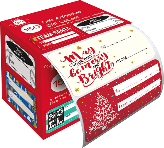 Patelena House: Christmas Label Roll - To/From (150-Pack)