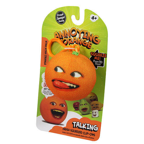 Annoying Orange Talking Plush Keyring / Clip-on - Nyah Nyah Orange image