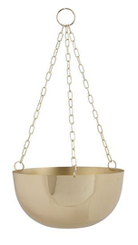 General Eclectic Hanging Planter - Brass