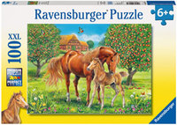 Ravensburger - Horses In The Field Puzzle (100pc)