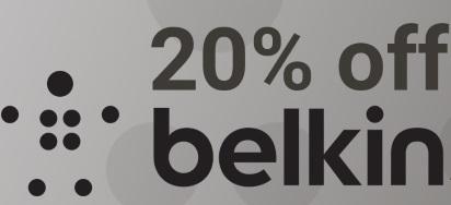 20% off Belkin
