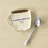 Natural Life: Ceramic Spoon Rest - But First Coffee