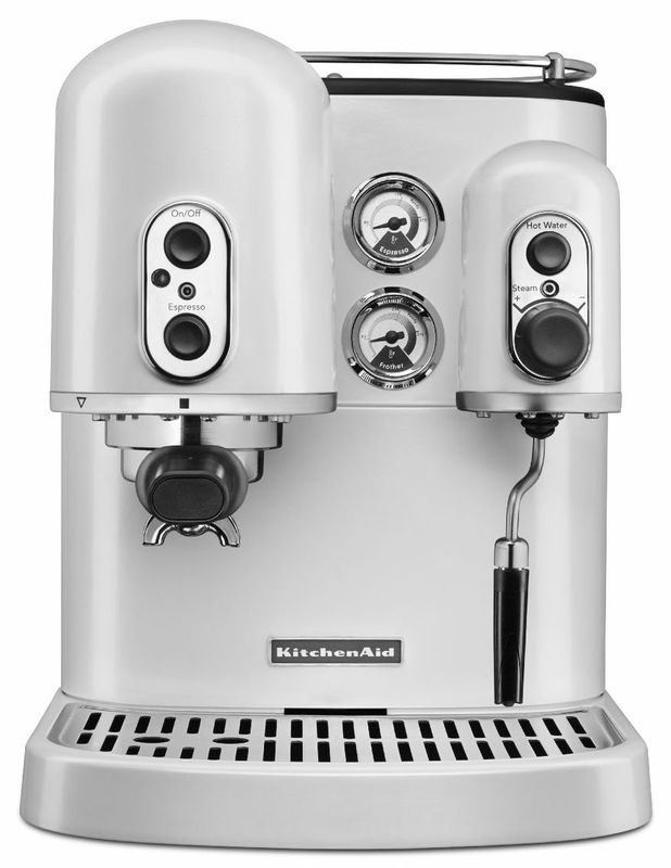KitchenAid Espresso Coffee Machine - Frosted Pearl