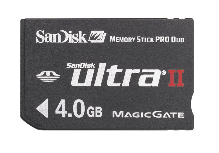 Sandisk Memory Stick Pro Duo Ultra 4GB image