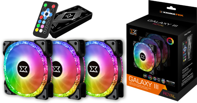 120mm Xigmatek Galaxy III Royal ARGB 3 Fan Kit