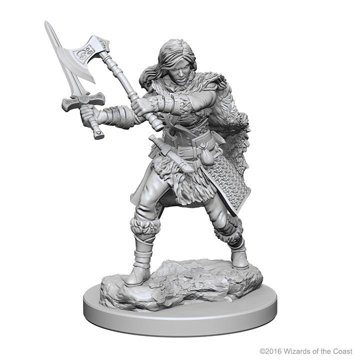 D&D Nolzur's Marvelous: Unpainted Minis - Human Female Barbarian image