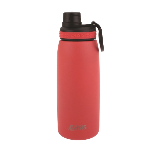 Oasis Stainless Steel Double Wall Insulated Sports Bottle - Coral (780ml)