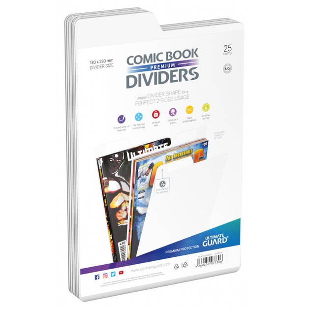 Ultimate Guard: Premium Comic Dividers - White (25-Pack)